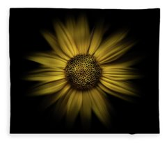 Fleece Blanket featuring the photograph Backyard Flowers 18 Color Flow Version by Brian Carson