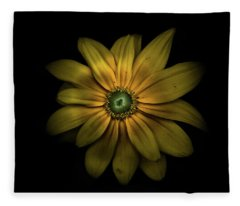 Fleece Blanket featuring the photograph Backyard Flowers 34 Color Version by Brian Carson