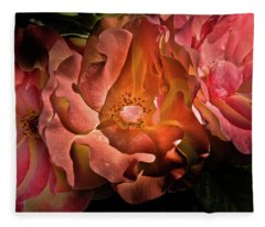 Fleece Blanket featuring the photograph Backyard Flowers 40 Color Version by Brian Carson