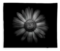 Fleece Blanket featuring the photograph Backyard Flowers In Black And White 31 by Brian Carson