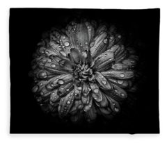Fleece Blanket featuring the photograph Backyard Flowers In Black And White 44 by Brian Carson