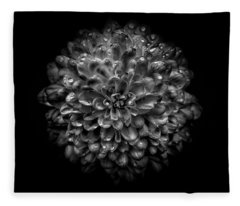 Fleece Blanket featuring the photograph Backyard Flowers In Black And White 46 by Brian Carson