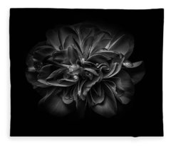 Fleece Blanket featuring the photograph Backyard Flowers In Black And White 67 by Brian Carson
