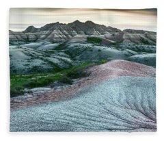 Badlands National Park Artistic II Fleece Blanket
