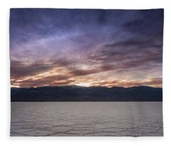 Badwater Basin Salt Flats Death Valley California Fleece Blanket