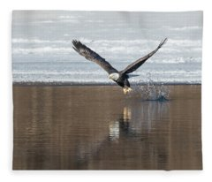 Bald Eagle 2018-12 Fleece Blanket