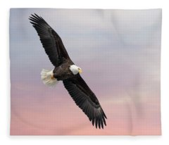 Bald Eagle With The Sunrise 2019-1 Fleece Blanket