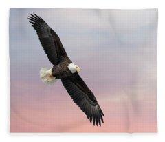 Bald Eagle With The Sunrise 2019-1 Fleece Blanket