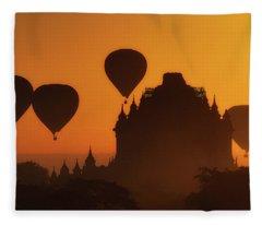 Balloons Over Began At Sunrise Fleece Blanket