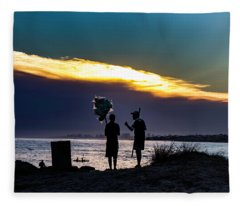 Baloon Seller Fleece Blanket