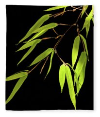 Bamboo Leaves 0580a Fleece Blanket