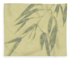 Bamboo Leaves 0580b Fleece Blanket