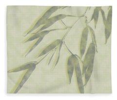 Bamboo Leaves 0580c Fleece Blanket
