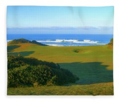 Bandon Dunes Golf Course - Hole #12 Fleece Blanket