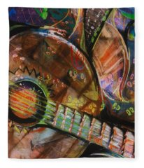 Banjos Jamming Fleece Blanket