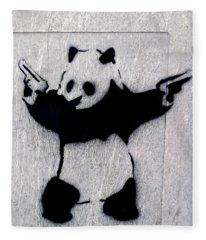 Banksy Panda Fleece Blanket