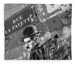 Banksy Rue La Lafayette Fleece Blanket
