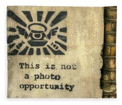 Banksy's This Is Not A Photo Opportunity Fleece Blanket