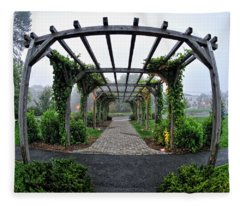 Bar Harbor Pergola Fleece Blanket