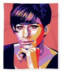 Barbra Streisand Pop Art Fleece Blanket