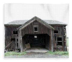 Barn 1886, Old Barn In Walton, Ny Fleece Blanket