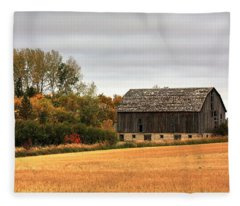 Barn Fall Fleece Blanket
