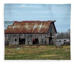 Barn Fleece Blanket