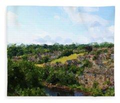 Barnard Castle View Fleece Blanket