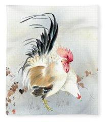 Barnyard Fowl Fleece Blanket