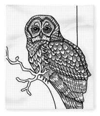 Barred Owl Fleece Blanket