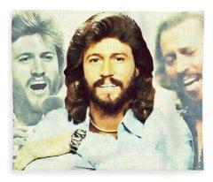 Barry Gibb Fleece Blanket