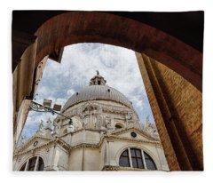Basilica Di Santa Maria Della Salute Venice Italy Fleece Blanket