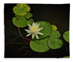 Bass Lake Water Lily Fleece Blanket