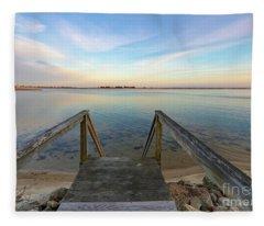 Bass River Beach Cape Cod Fleece Blanket