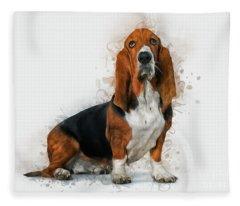 Basset Hound Fleece Blanket