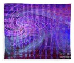 Baton Twirl Fleece Blanket