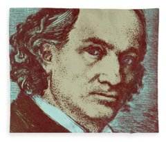 Baudelaire Colorized Drawing Fleece Blanket