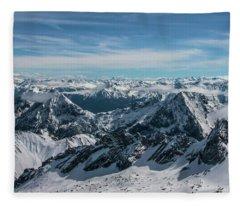 Bavarian Alps Fleece Blanket