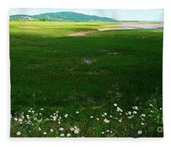 Bay Of Fundy Landscape Fleece Blanket