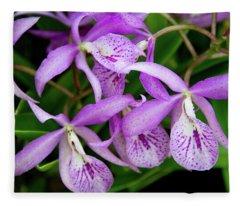 Bc Maikai 'louise' Orchid Fleece Blanket