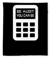Be Audit You Can Be Funny Accountant Cpa Fleece Blanket