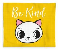 Be Kind - Baby Room Art Poster Print Fleece Blanket