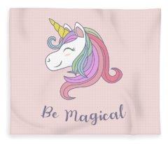 Be Magical - Baby Room Nursery Art Poster Print Fleece Blanket