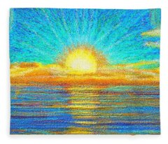 Beach 1 6 2019 Fleece Blanket