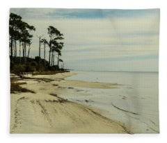 Beach And Trees Fleece Blanket