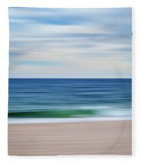 Beach Blur Fleece Blanket