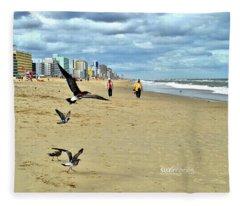 Beach Comber Traffic Fleece Blanket