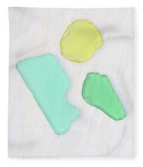 Beach Glass Trio Fleece Blanket