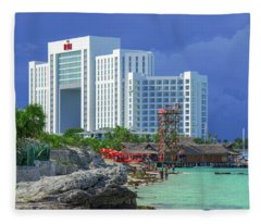 Beach Life In Cancun Fleece Blanket