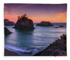 Beach Of The Gods  Fleece Blanket